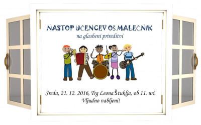 Glasbeni nastop na Trgu Leona Štuklja